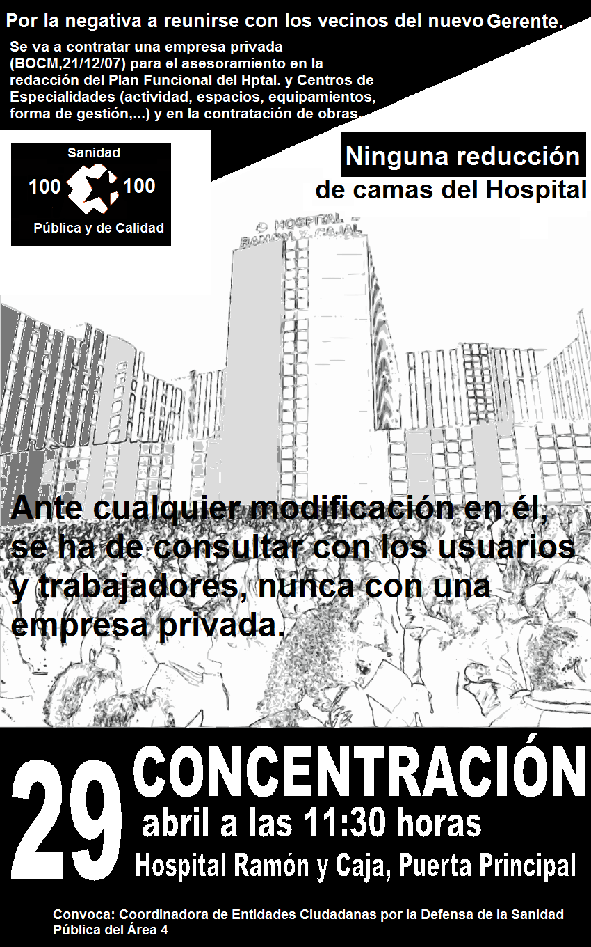CONCENTRACION: Hospital. Ramn y Cajal (Pta Principal)