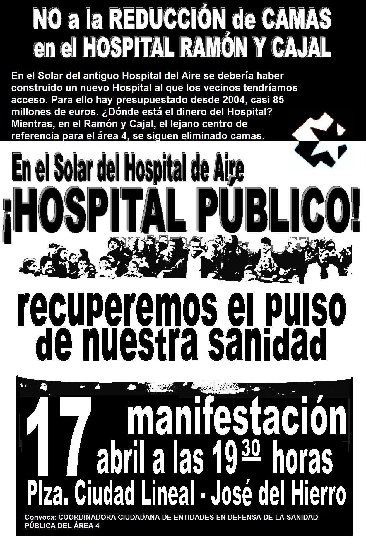 Manifestacion 17 de abril: En ese Solar prometieron un Hospital
