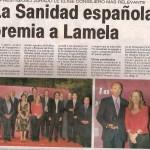 ¿Que Sanidad Española ha premiado a Lamela?