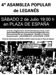 La Asamblea 15M de Leganés inicia acciones para frenar los desahucios en estos tiempos de crisis.
