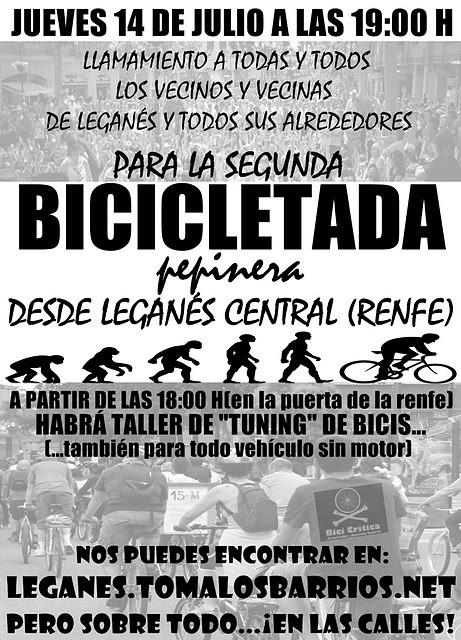 2ª Bicicletada reivindicativa en Leganés