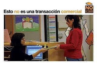 Blanca Calvo sobre el copago / repago en las bibliotecas públicas.