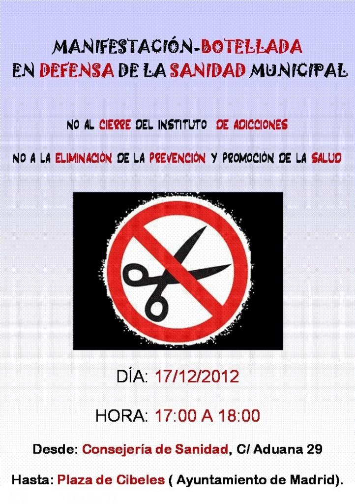 cartel día manifestación dia 17 de diciembre