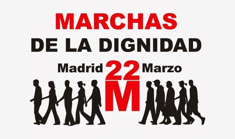 La A.VV. Lucero informa: 22 de Marzo, Marchas de la Dignidad