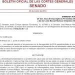 BOCG Senado n.325 de 20 marzo 2014