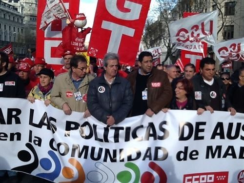 Los sindicatos salen a la calle contra las políticas de austeridad en Europa