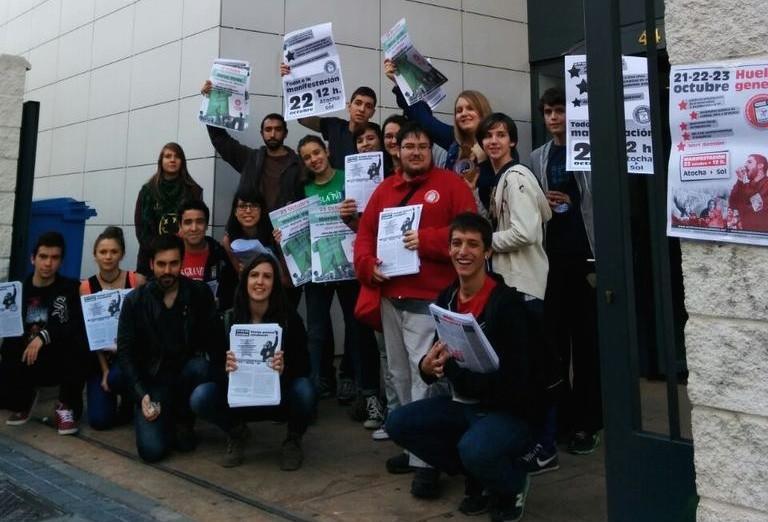 """El Sindicato de Estudiantes califica de """"masiva y contundente"""" la primera jornada de huelga"""