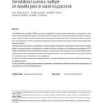 Sensibilidad Química Múltiple: un desafio para la salud Ocupacional