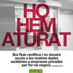 La Generalitat da marcha atrás en la venta de datos sanitarios anónimos