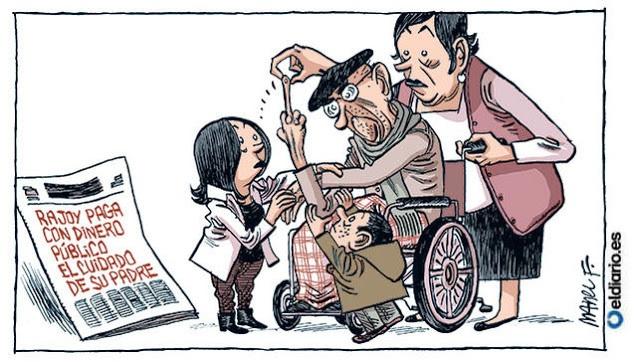 Mariano Rajoy carga al presupuesto de La Moncloa el cuidado de su padre