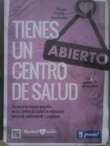 """El Ayuntamiento lanza una campaña para recordar que Madrid está """"libre de exclusión sanitaria"""""""