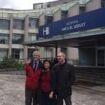 Una delegación socialista visita el antiguo Hospital Puerta de Hierro