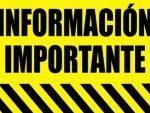 Informacion Importante