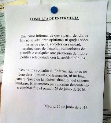 """Al día siguiente de las elecciones (a propósito de la nota """"consulta de enfermería"""")"""