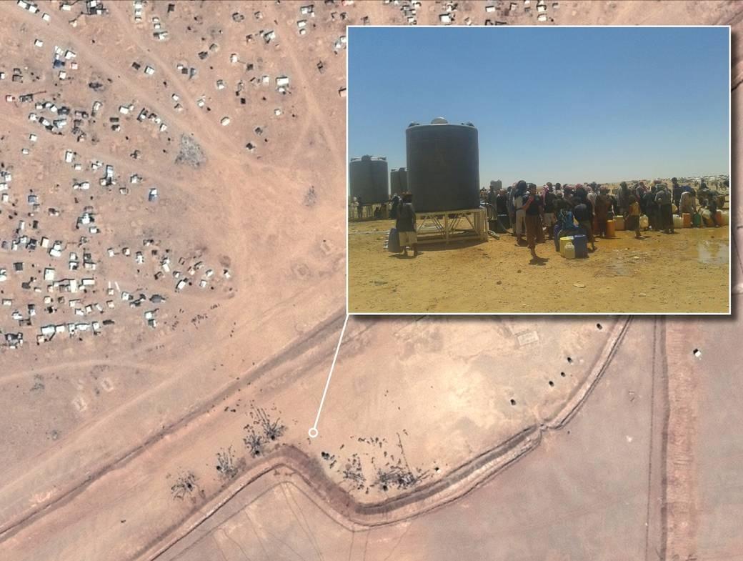 Al menos 75.000 personas refugiadas sirias atrapadas en el desierto jordano