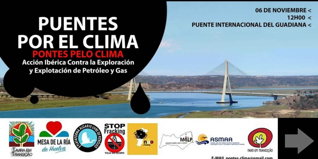 Organizaciones sociales unidas contra el gas en Doñana y el petróleo en el Algarve