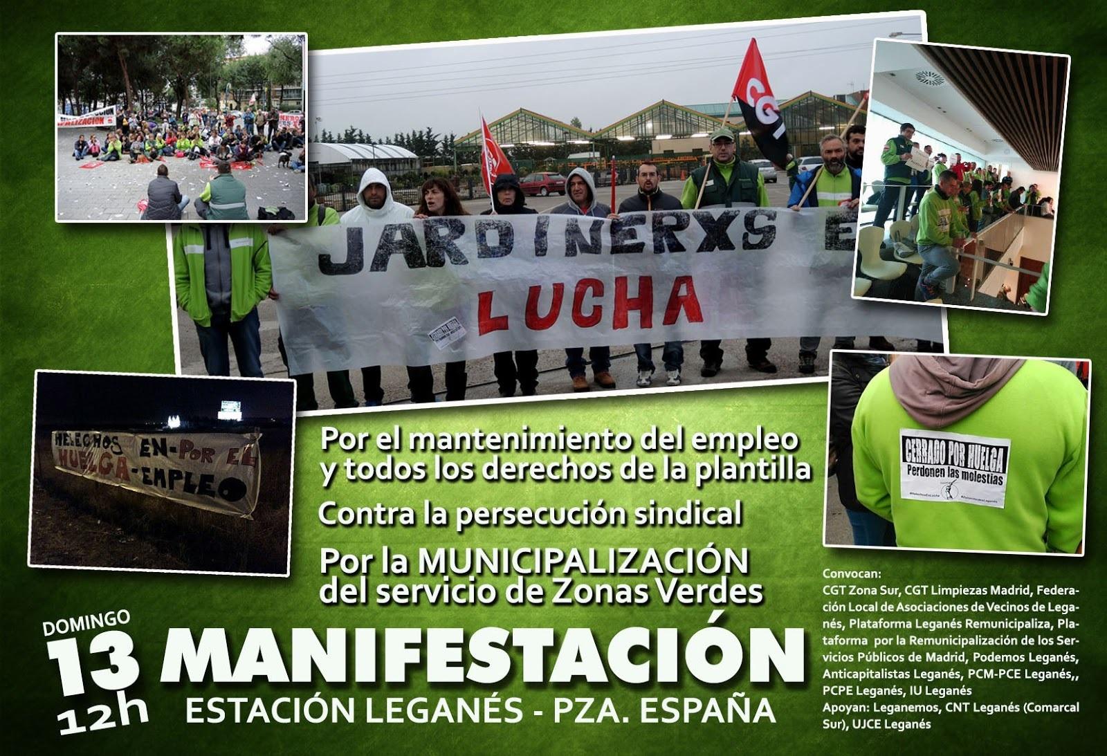 Manifestación por los servicios zonas verdes