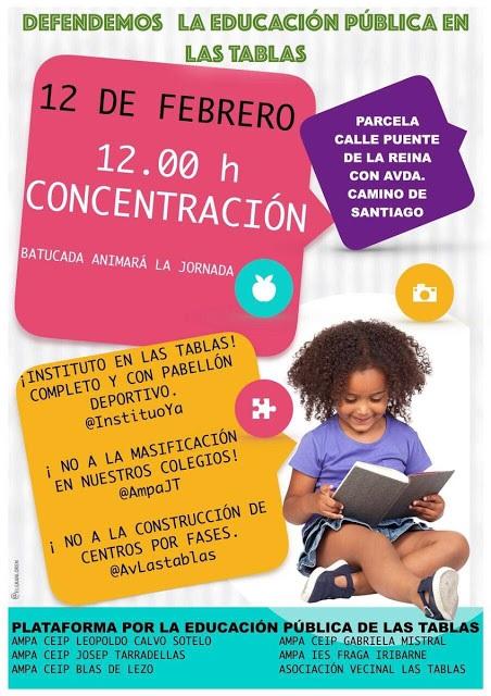 12F: nueva concentración de protesta por la educación pública de calidad y la construcción del instituto